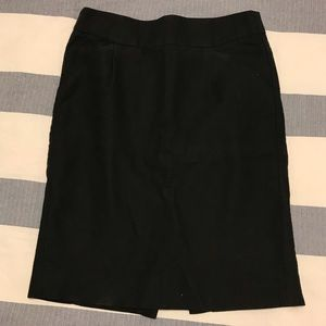 J Crew Black Pencil Skirt